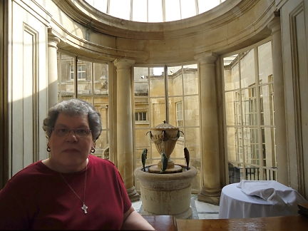 In the Pump room at Bath